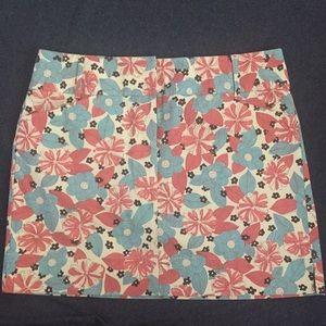 Ann Taylor Loft Floral Print Pencil Work Skirt B37